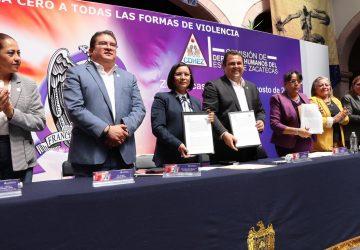 CDHEZ Y UAZ FIRMAN CONVENIO PARA IMPULSAR ESTRATEGIA DE TOLERANCIA CERO A LA VIOLENCIA