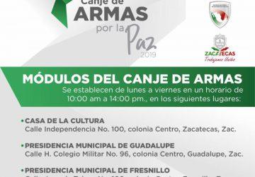 IMPULSAN GOBIERNO DEL ESTADO Y SEDENA LA CAMPAÑA CANJE DE ARMAS