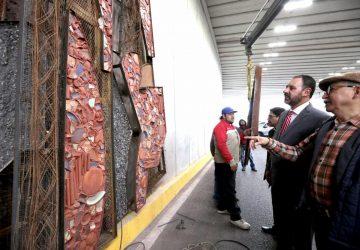 INICIA ALFONSO LÓPEZ MONREAL TRABAJOS DE INSTALACIÓN DE MURAL EN PASO A DESNIVEL DE AVENIDA PEDRO CORONEL