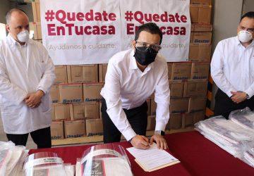 CAPITAL ZACATECANA CONTRIBUYE EN LA PROTECCIÓN DE LA SALUD DEL PERSONAL MÉDICO: ULISES MEJÍA HARO