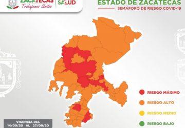 CONTABILIZA ZACATECAS 107 NUEVOS CASOS DE COVID-19 EN LAS ÚLTIMAS 24 HORAS