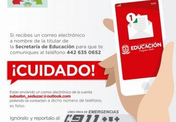 ADVIERTEN SOBRE MODALIDAD DE EXTORSIÓN A NOMBRE DE LA SECRETARÍA DE EDUCACIÓN
