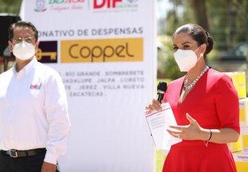 RECIBE GOBIERNO DE ZACATECAS DONACIÓN DE ALIMENTOS DE GRUPO COPPEL