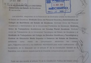 ORGANIZACIONES SINDICALES DE EDUCACIÓN  EXIGEN DIÁLOGO