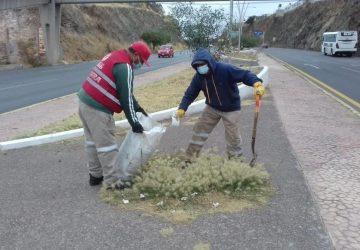 GOBIERNO ESTATAL DA MANTENIMENTO PERMANENTE A PARQUES Y VIALIDADES