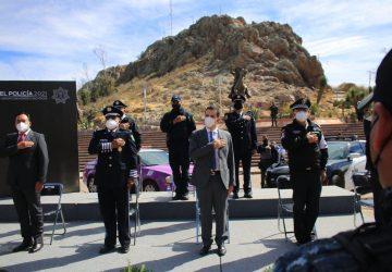 ALCALDÍA DE ZACATECAS Y SECRETARÍA DE SEGURIDAD PÚBLICA DEL ESTADO, RECONOCEN A POLICÍAS EN SU DÍA: ALCALDE ULISES MEJÍA HARO.