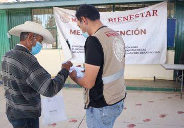 RECIBEN PENSIÓN PARA EL BIENESTAR 2 MIL ADULTOS MAYORES DE SIETE MUNICIPIOS