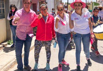 PROMUEVEN CANDIDATOS FUERZA POR MÉXICO EN ENRIQUE ESTRADA PROPUESTAS