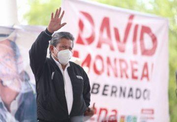 VENGO A ENTREGAR MI VIDA PARA SACAR ADELANTE A FRESNILLO Y AL ESTADO: DAVID MONREAL ÁVILA