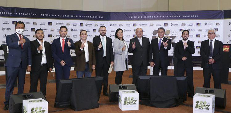 SE ENFRENTAN EN DEBATE CANDIDATURAS A LA PRESIDENCIA MUNICIPAL DE GUADALUPE