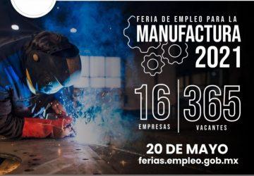 OFERTARÁN 365 VACANTES EN ZACATECAS EN FERIA DEL EMPLEO PARA LA MANUFACTURA 2021