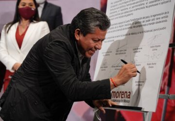 FIRMA DAVID MONREAL CARTA COMPROMISO CON LA CUARTA TRANSFORMACIÓN