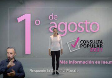 INICIA INE DIFUSIÓN DE LA CONSULTA POPULAR EN TIEMPOS OFICIALES DE RADIO Y TELEVISIÓN