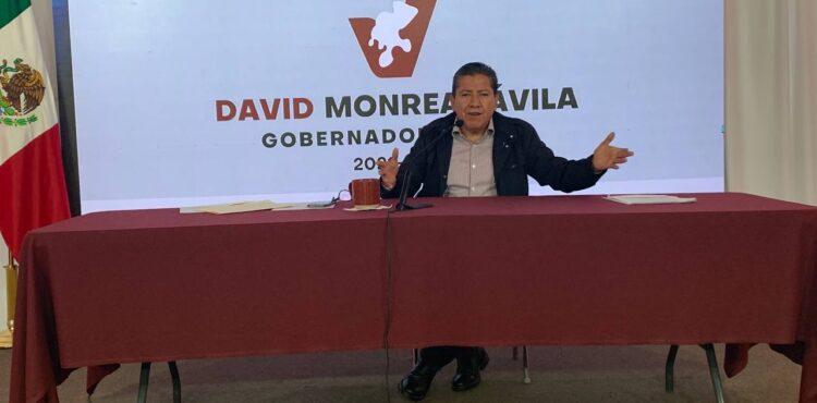 LA CLASE TRABAJADORA NO MERECE LA INCERTIDUMBRE, SOSTIENE DAVID MONREAL ANTE EL SAQUEO EN EL ISSSTEZAC