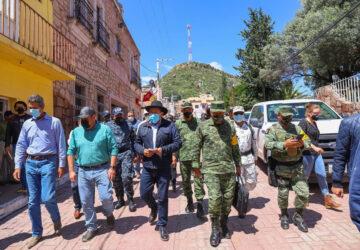 SUPERVISA GOBERNADOR MONREAL ATENCIÓN PERMANENTE EN MUNICIPIOS AFECTADOS POR LA LLUVIA