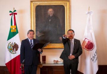 NOMBRA GOBERNADOR DAVID MONREAL A COORDINADOR GENERAL JURÍDICO Y SECRETARIOS DE SALUD Y DE ADMINISTRACIÓN