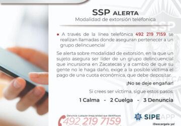 ADVIERTEN SOBRE INTENTO DE EXTORSIÓN TELEFÓNICA