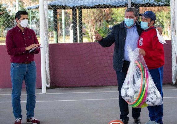 GOBERNADOR DAVID MONREAL Y ALCALDE JULIO CÉSAR CHÁVEZ PONEN EN MARCHA ESPACIOS DEPORTIVOS