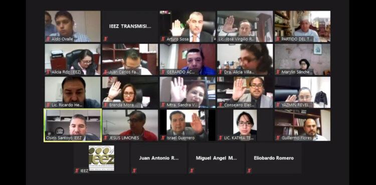 APRUEBA IEEZ ANTEPROYECTO DE FINANCIAMIENTO A PARTIDOS POLÍTICOS PARA EL AÑO 2022