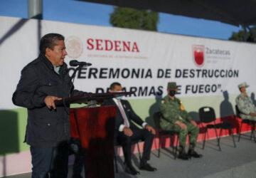 ESTOY EMPEÑADO EN RECUPERAR LA TRANQUILIDAD Y PAZ SOCIAL EN ZACATECAS: GOBERNADOR DAVID MONREAL